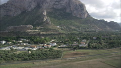 AERIAL Italy-Palermo Airport Stock Footage