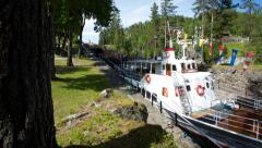 Telemark watergate canal Norway 4K time lapse Stock Footage