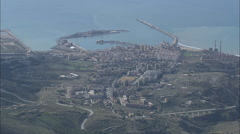 AERIAL Italy-Porto Empedocle Stock Footage