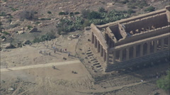 AERIAL Italy-Temple Of Concord - stock footage
