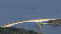 AERIAL United Kingdom-Skye Bridge Stock Footage