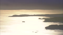Ferry In Sound Of Mull Stock Footage