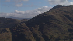AERIAL United Kingdom-Hills Near Benderloch Stock Footage