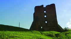 Time Lapse castle ruins Stock Footage