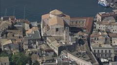 AERIAL Italy-Ortygia, Syracuse Stock Footage