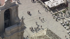 AERIAL Italy-Cathedral Square Stock Footage