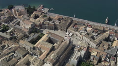 AERIAL Italy-Passing Palagonia Stock Footage