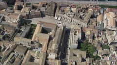 AERIAL Italy-Over The Top Of Carlentini Stock Footage