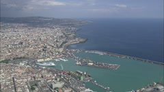 AERIAL Italy-Catania Stock Footage