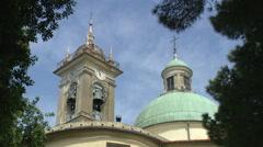 ITALY church in Liguria Genova districta Stock Footage