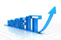 Growing profit - stock illustration