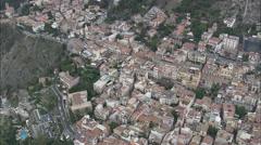 AERIAL Italy-Taormina Stock Footage