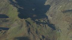 AERIAL United Kingdom-Snowdonia Stock Footage