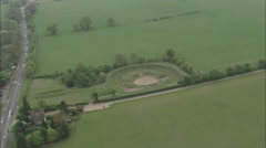 AERIAL United Kingdom-Roman Theatre, St Albans Stock Footage