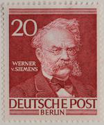 Werner von Siemens a German inventor and industrialist portrait on a German Stock Photos
