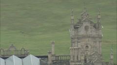 AERIAL United Kingdom-Mentmore House Stock Footage