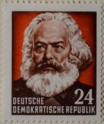 Karl Marx a German philosopher economist sociologist journalist and - stock photo