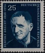Berthold Brecht a German Marxist poet playwright and theatre director portrait Stock Photos