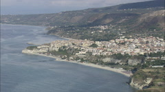 AERIAL Italy-Tropea Stock Footage