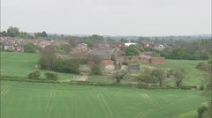 AERIAL United Kingdom-Over Old Military Arsenal At Weeden Bec Stock Footage