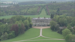 AERIAL United Kingdom-Ragley Hall - stock footage