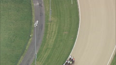AERIAL United Kingdom-Wolverhampton Race Course Stock Footage