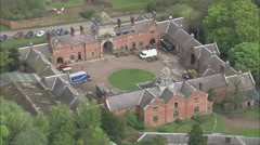 AERIAL United Kingdom-Ingestre Hall Stock Footage