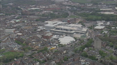 AERIAL United Kingdom-Derby - stock footage