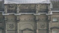 AERIAL United Kingdom-Kedleston Hall - stock footage
