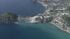 AERIAL Italy-Isola D'Ischia Stock Footage