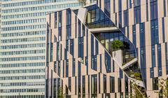 KoBogen complex of buildings with offices shops and restaurants Konigsallee - stock photo