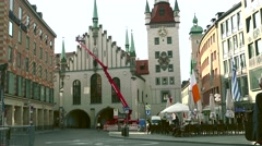 ULTRA HD 4K real time shot,The historical center in Munich Stock Footage