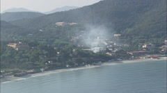 AERIAL Italy-Flight Revealing The Gulf Of Biodola Stock Footage