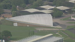 AERIAL United Kingdom-Duxford Air Museum Stock Footage