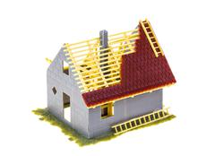 Home symbol home model privately owned home ownership building construction - stock photo