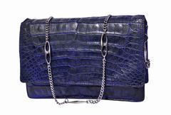 Alligator leather bag - stock photo