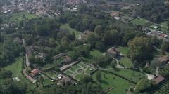 AERIAL Italy-Villa Mansi - stock footage
