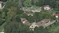 AERIAL Italy-Villa Mansi Stock Footage