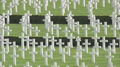 AERIAL United Kingdom-Cambridge American Cemetery Stock Footage