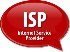 Stock Illustration of ISP acronym definition speech bubble illustration