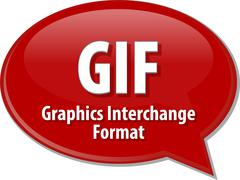 Stock Illustration of GIF acronym definition speech bubble illustration