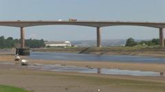 A39 Torridge Road Bridge over River Torridge in Bideford North Devo Stock Footage
