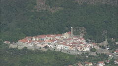 AERIAL Italy-Hill Top Villages Stock Footage