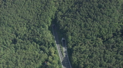 AERIAL Italy-A12 Or E80 Motorway Stock Footage