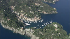 AERIAL Italy-Portofino Stock Footage
