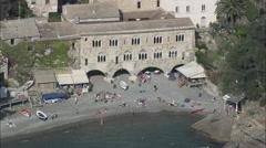 AERIAL Italy-San Fruttuoso Stock Footage