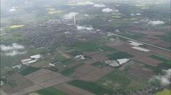 AERIAL United Kingdom-Wisbech Stock Footage