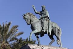 Stock Photo of Statue of King Jaime I Plaza Espana Palma de Majorca Majorca Balearic Islands