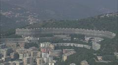 AERIAL Italy-Genoa Stock Footage