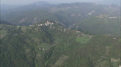 AERIAL Italy-Landscape And Hill Top Villages Stock Footage